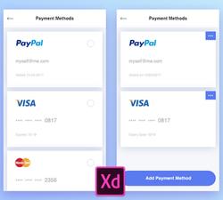 Payment Methods Free UI Kit - UIUX Repo Free UI Design Resources